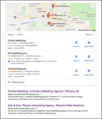 Google #1 SEO Etched Marketing